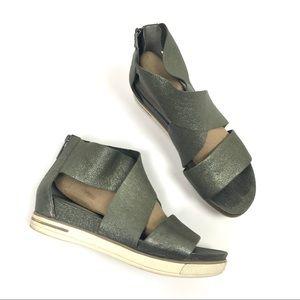 Eileen Fisher Sport Metallic Wedge Platform sandal